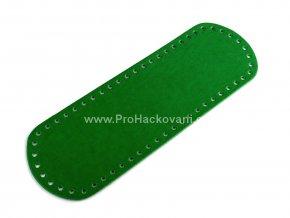 Koženkové dno na kabelku 10 x 30 cm zelené