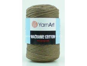 Macrame Cotton 791 matná hnědá