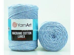 Macrame Cotton Lurex 729 světle modrá se stříbrnou nitkou