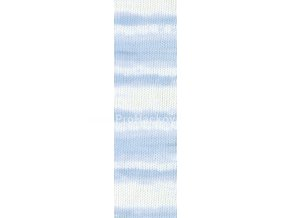 příze Baby Best Batik 6669 světle modrá a bílá