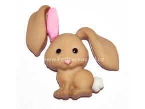 Knoflík exclusive Zajíc béžový
