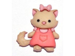 Knoflík exclusive Kočička v šatech