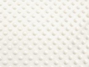 Látka Minky s 3D puntíky smetanová