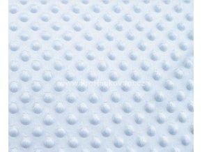 Látka Minky s 3D puntíky šedomodrá
