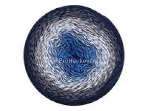 příze Flowers 275 královská modrá, světle a tmavě šedá, černá