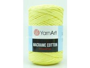 Macrame Cotton 754 bledě žlutá