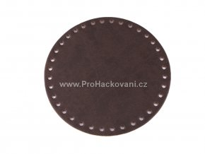 Koženkové dno na kabelku kulaté Ø 16 cm tmavě hnědé