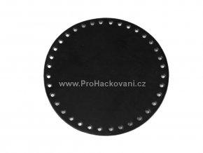 Koženkové dno na kabelku kulaté Ø 16 cm černé