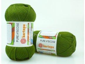 příze Pure Viscose 410 olivová