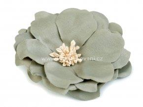 Květ Ø 75 mm tmavě šedo-zelený