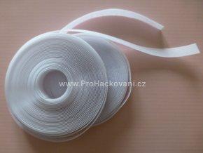 Suchý zip, 20 mm, komplet bílý