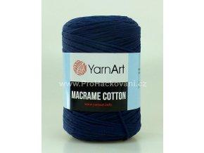 Macrame Cotton 784 tmavě modrá