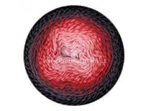 příze Flowers 282 růžová, červená, šedá, černá
