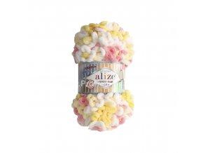 Puffy fine color 5942 žlutá, bílá, růžová
