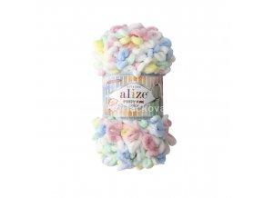 Puffy fine color 5949 žlutá, bílá, růžová, modrá, zelená