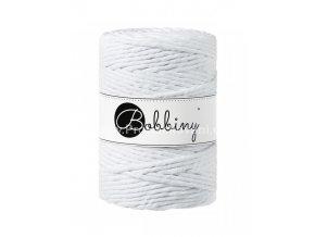 Bobbiny Macrame Cord XXL 5 mm bílé ( White )