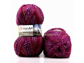 příze Everest 7038 fialová, červená, smetanová