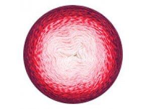 příze Flowers 269 smetanová, růžová, červená, vínová