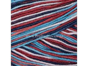 Gina Crazy 7208 lososová, bílá, modrá, červená
