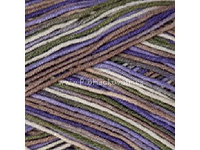 Gina Crazy 7207 fialová, bílá, hnědá olivová