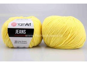 příze YarnArt Jeans 88 vanilkově žlutá