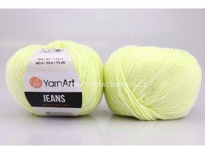 příze YarnArt Jeans 86 bledě žlutá