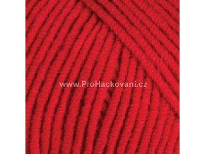 příze YarnArt Jeans Jeans 90 červená