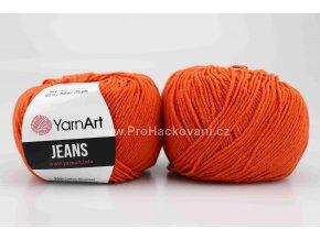 příze YarnArt Jeans 85 oranžově cihlová