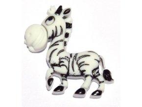 Knoflík exclusive Zebra
