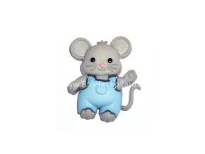Knoflík exclusive Myška v laclích