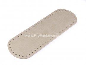 Koženkové dno na kabelku 10 x 30 cm režné mramorované