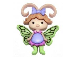 Knoflík exclusive Motýlka