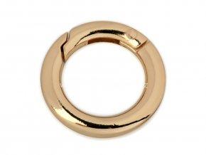 Karabina kroužek zlatá Ø 29 mm