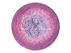 příze Flowers 281 fialový melír