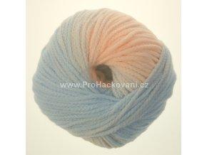 příze Mary Color 88274 meruňková a modrá melange