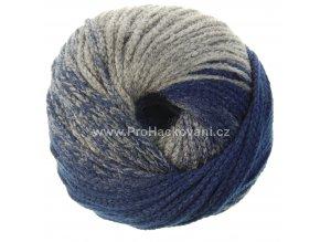 příze Mary Color 88276 šedá a modrá melange