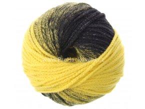příze Mary Color 88278 žlutá a černá melange