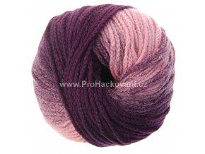 příze Mary Color 88273 růžová a fialová melange