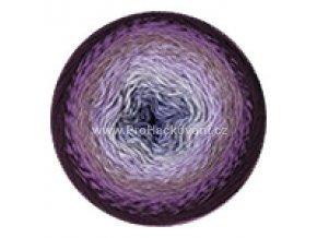 příze Flowers 278 fialová, šedá, hnědá