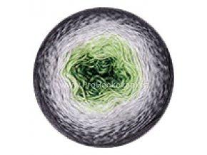 příze Flowers 291 zelená, šedá, antracit