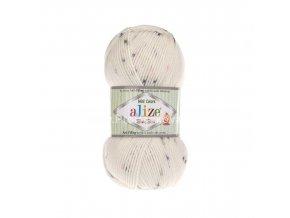 příze Baby Best Mini Colors 6970 smetanová s modrým, šedým a růžovým žíháním