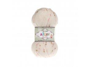 příze Baby Best Mini Colors 6968 smetanová s růžovým a hnědým žíháním