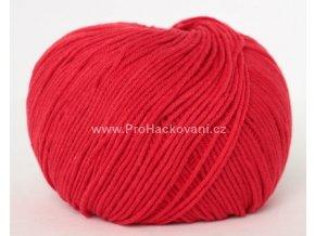 příze Jeans 8008 červená