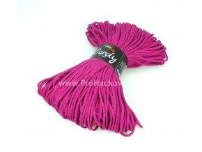 šňůry Cordy 3 mm purpurově fialkové