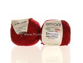příze Bambino Lux Cotton 70346 třešňově červená