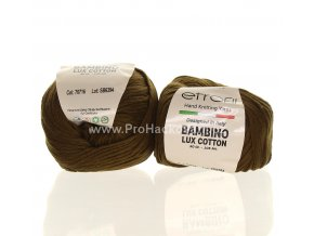 příze Bambino Lux Cotton 70716 hnědá