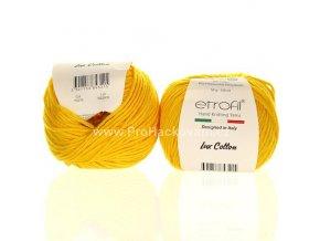 příze Bambino Lux Cotton 70219 slunečnicově žlutá