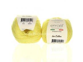 příze Bambino Lux Cotton 70218 světle žlutá