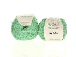 příze Bambino Lux Cotton 70412 mentolově zelená