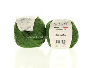 příze Bambino Lux Cotton 70414 tmavší zelená